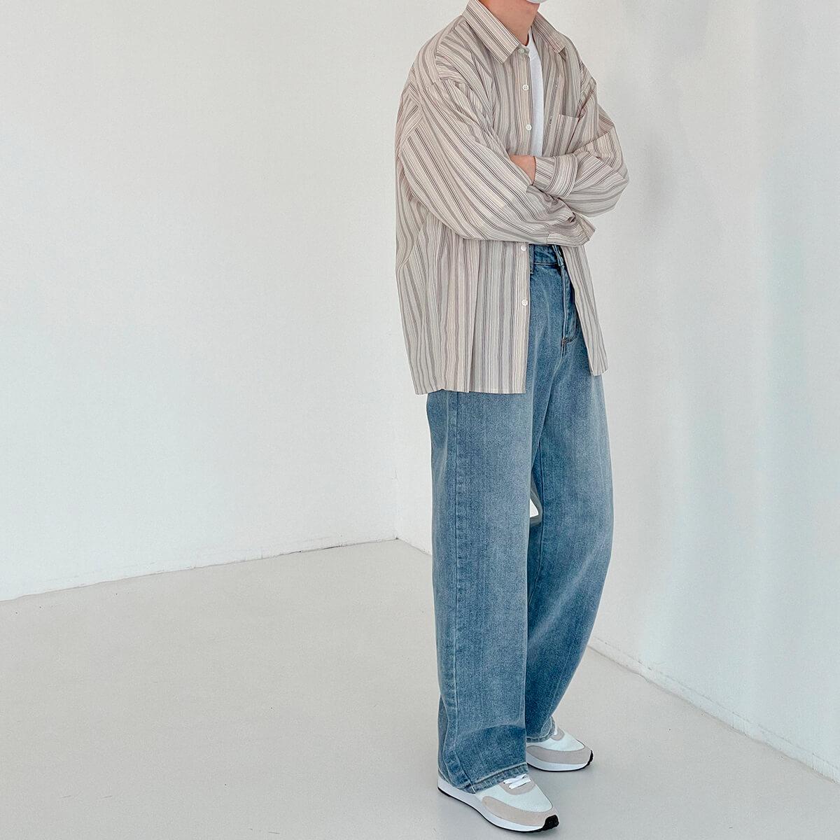 Рубашка DAZO Studio Long Sleeve Striped Shirt (10)
