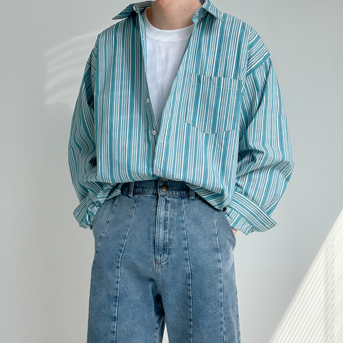 Рубашка DAZO Studio Long Sleeve Striped Shirt (2)