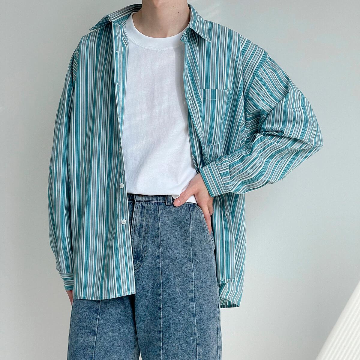 Рубашка DAZO Studio Long Sleeve Striped Shirt (3)