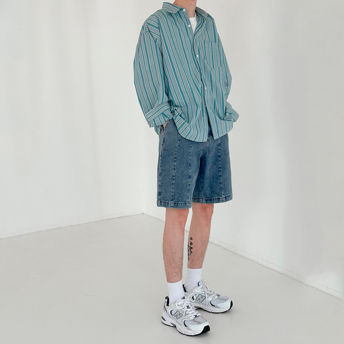 Рубашка DAZO Studio Long Sleeve Striped Shirt (4)