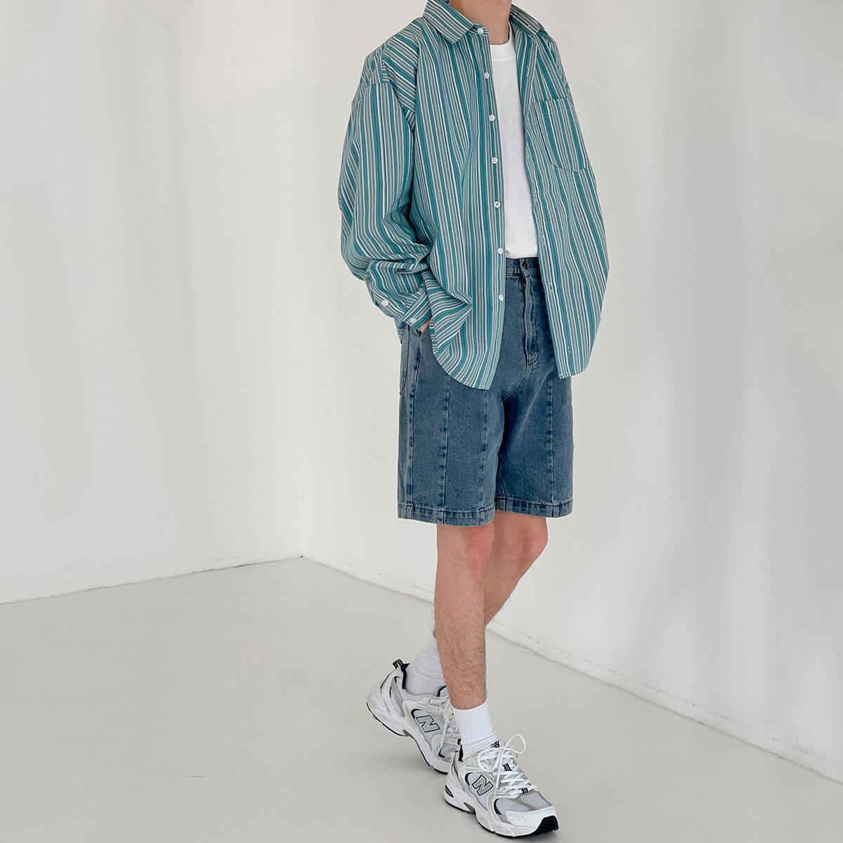 Рубашка DAZO Studio Long Sleeve Striped Shirt (5)