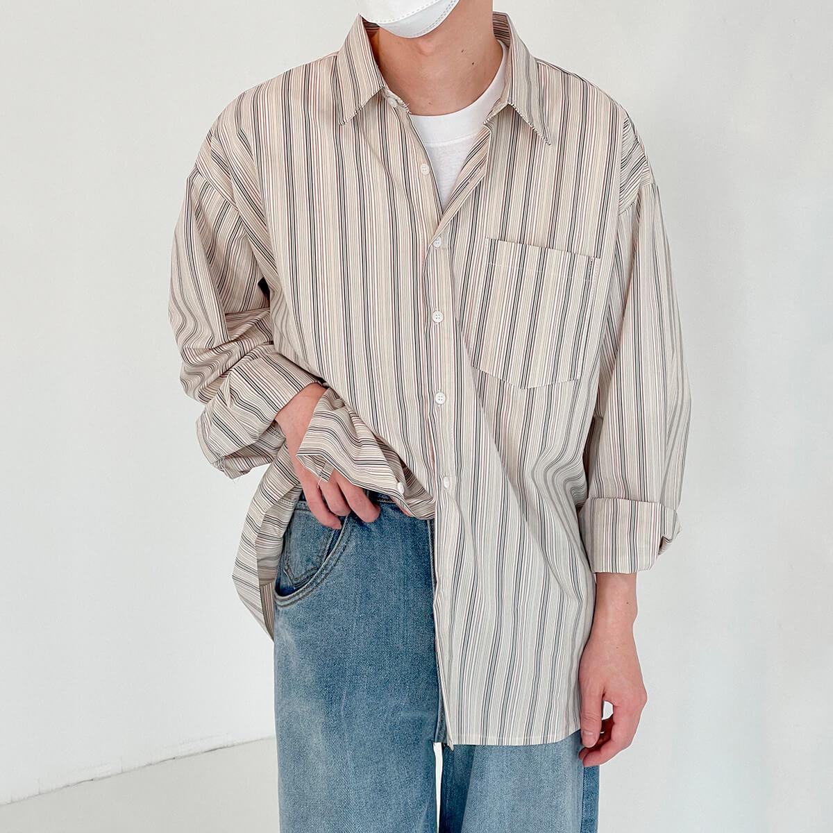Рубашка DAZO Studio Long Sleeve Striped Shirt (6)