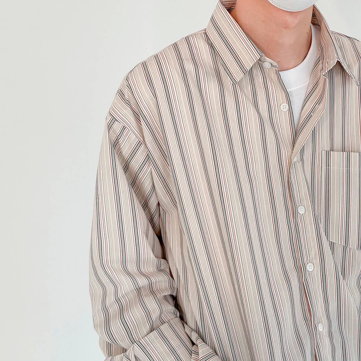 Рубашка DAZO Studio Long Sleeve Striped Shirt (7)