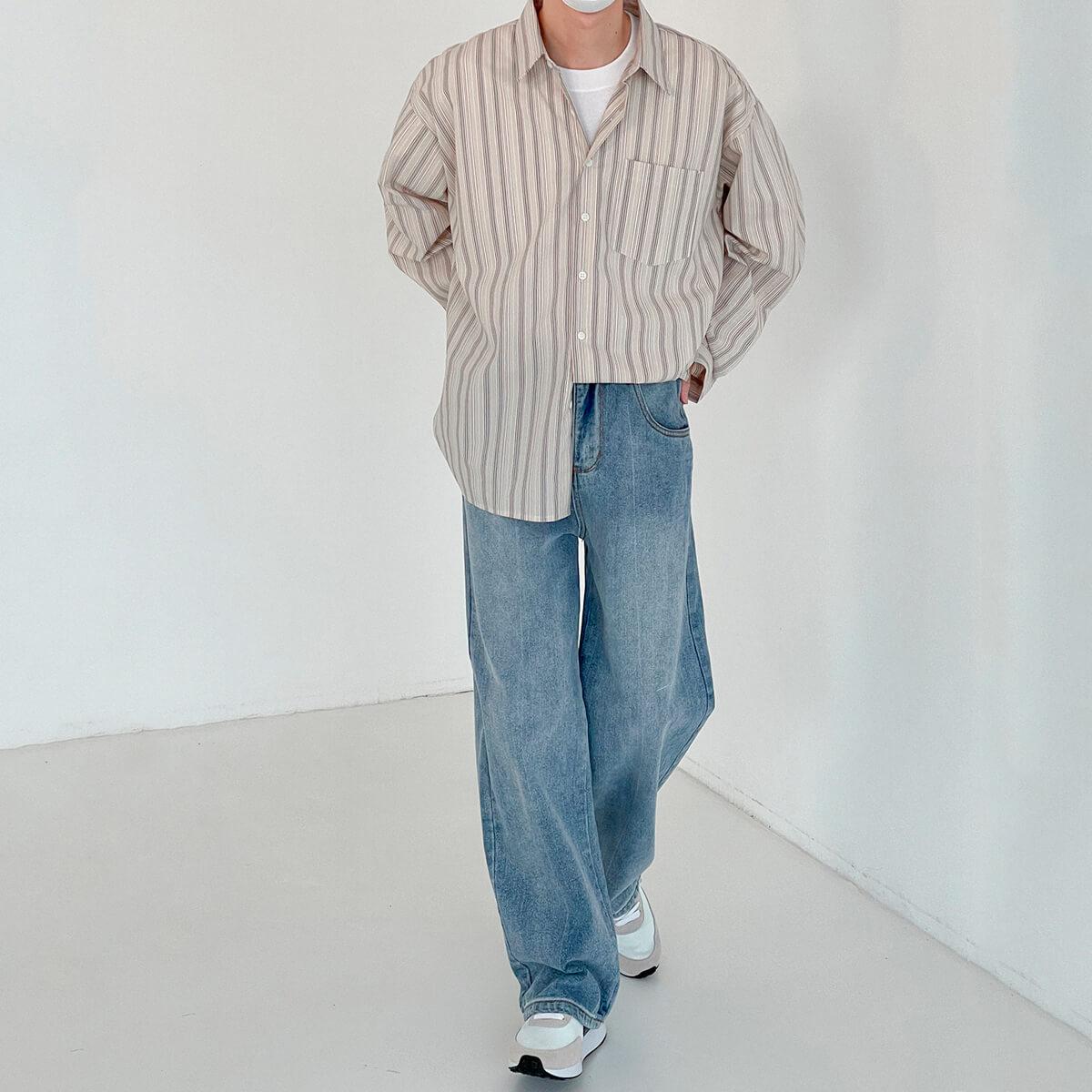 Рубашка DAZO Studio Long Sleeve Striped Shirt (8)