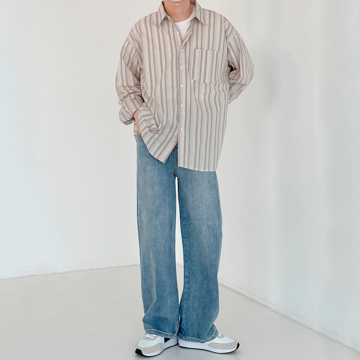 Рубашка DAZO Studio Long Sleeve Striped Shirt (9)