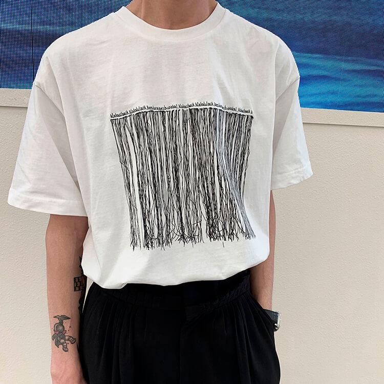 Футболка Attitude Studio Abstract Embroidery T-shirt (1)