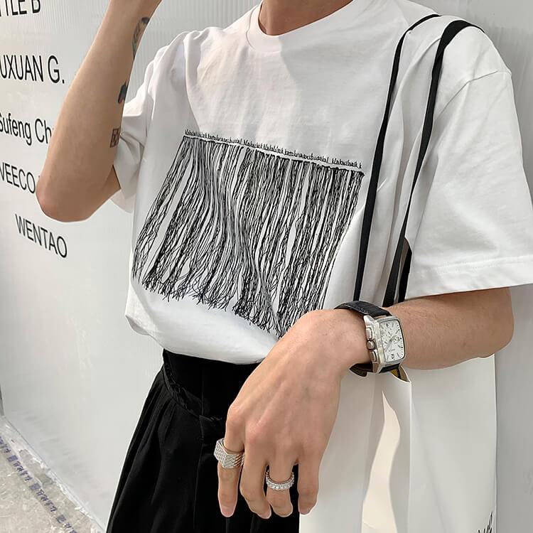 Футболка Attitude Studio Abstract Embroidery T-shirt (2)