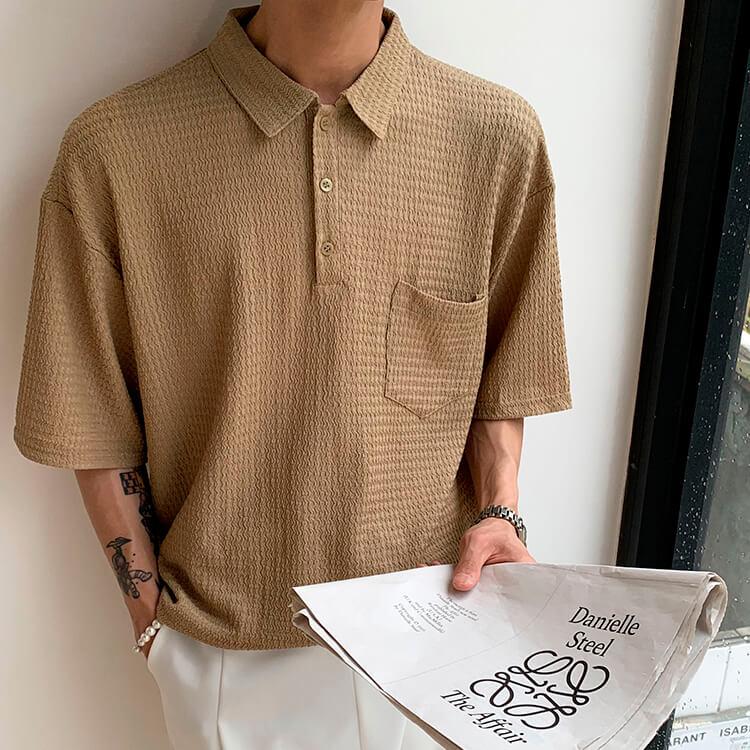 Футболка Attitude Studio Textured Polyester Polo Shirt (1)
