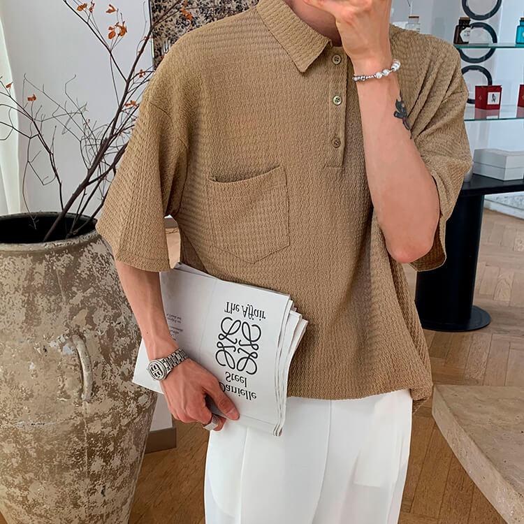Футболка Attitude Studio Textured Polyester Polo Shirt (2)