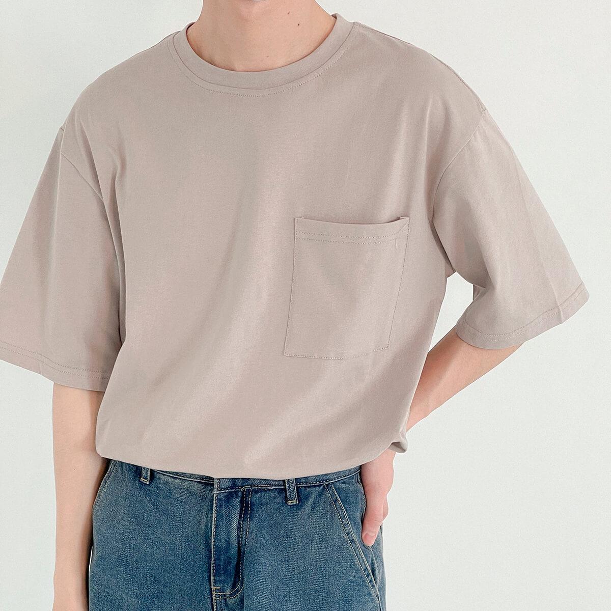 Футболка DAZO Studio Solid Colored Pocket T-shirt (1)