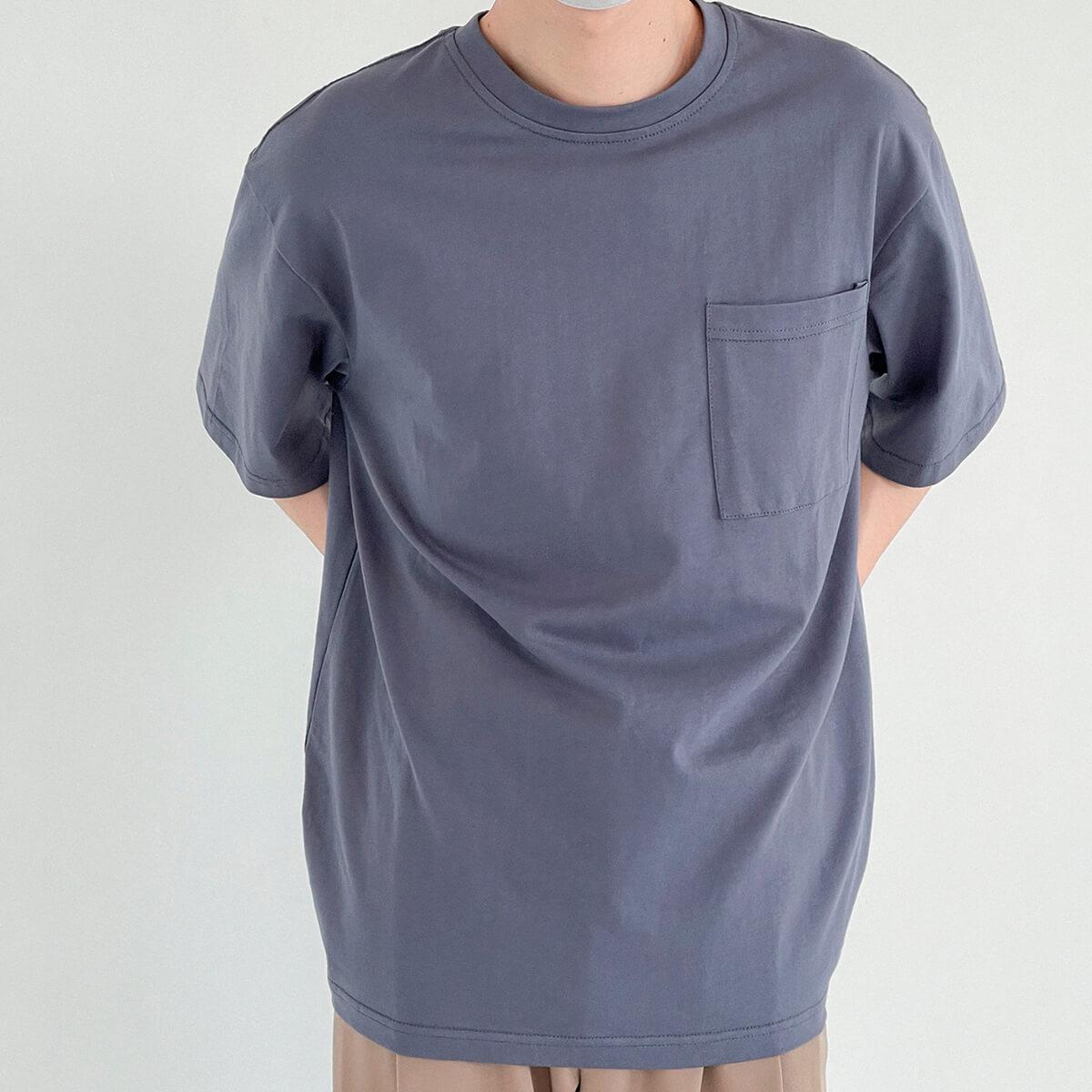 Футболка DAZO Studio Solid Colored Pocket T-shirt (10)