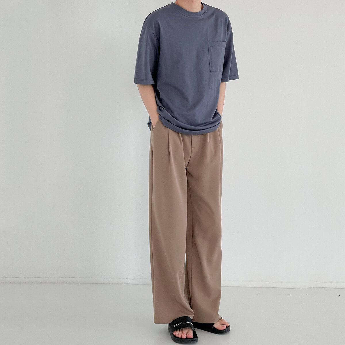 Футболка DAZO Studio Solid Colored Pocket T-shirt (12)