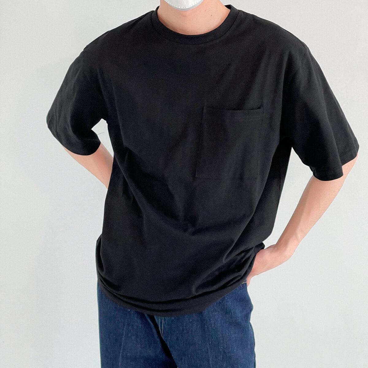 Футболка DAZO Studio Solid Colored Pocket T-shirt (14)