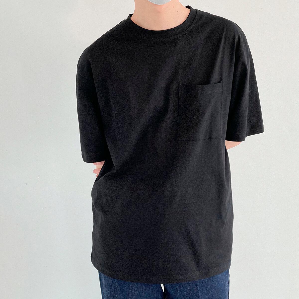 Футболка DAZO Studio Solid Colored Pocket T-shirt (15)