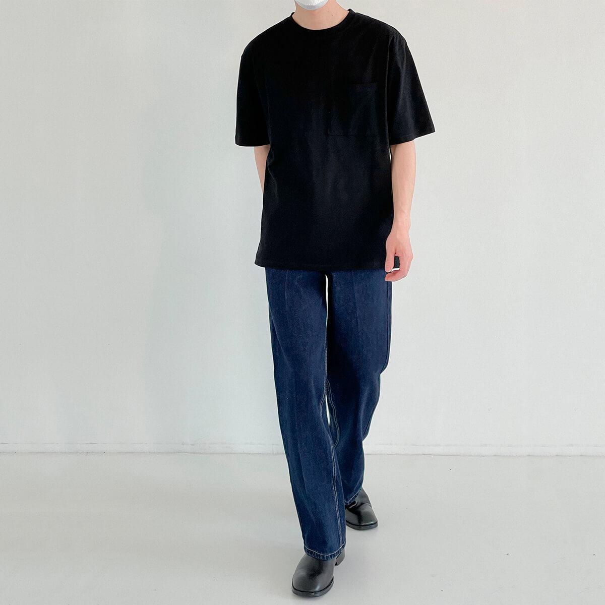 Футболка DAZO Studio Solid Colored Pocket T-shirt (17)