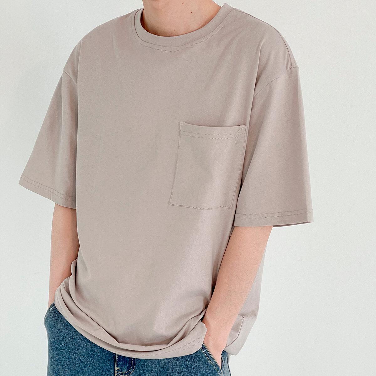 Футболка DAZO Studio Solid Colored Pocket T-shirt (2)
