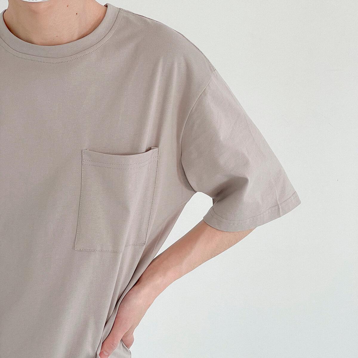 Футболка DAZO Studio Solid Colored Pocket T-shirt (3)