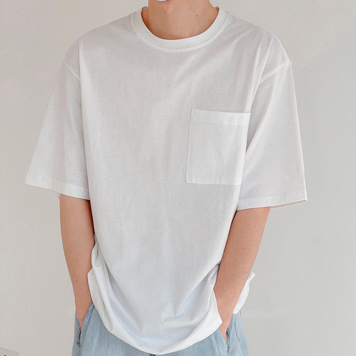 Футболка DAZO Studio Solid Colored Pocket T-shirt (6)