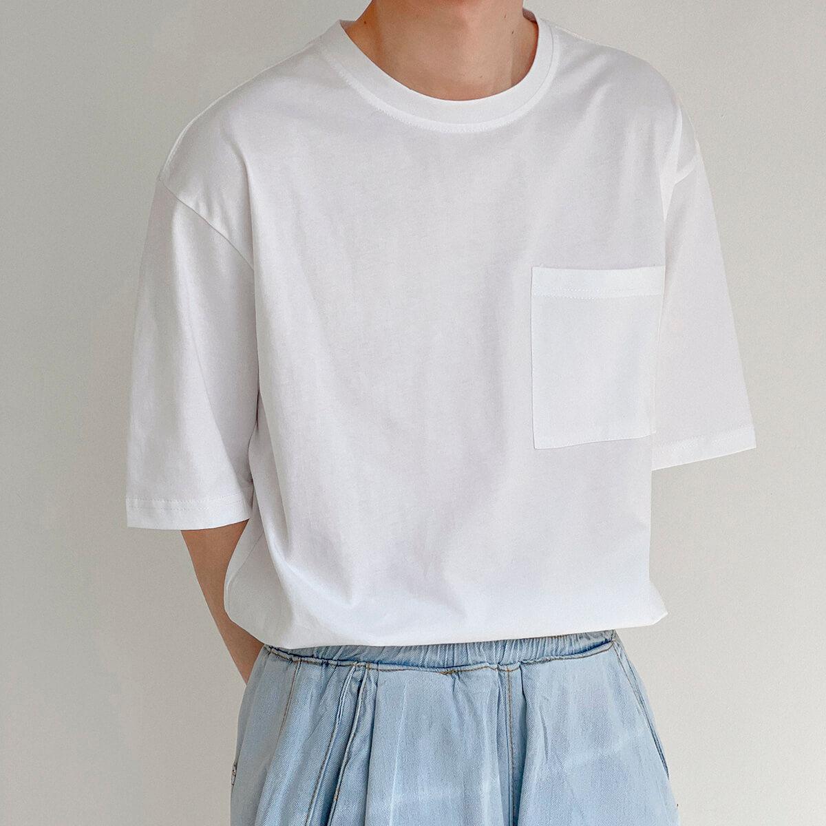 Футболка DAZO Studio Solid Colored Pocket T-shirt (7)