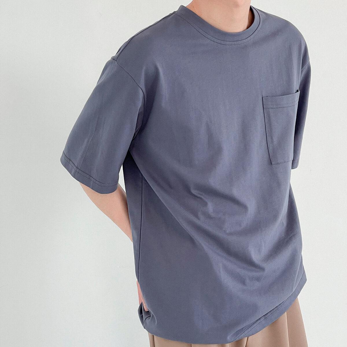 Футболка DAZO Studio Solid Colored Pocket T-shirt (9)