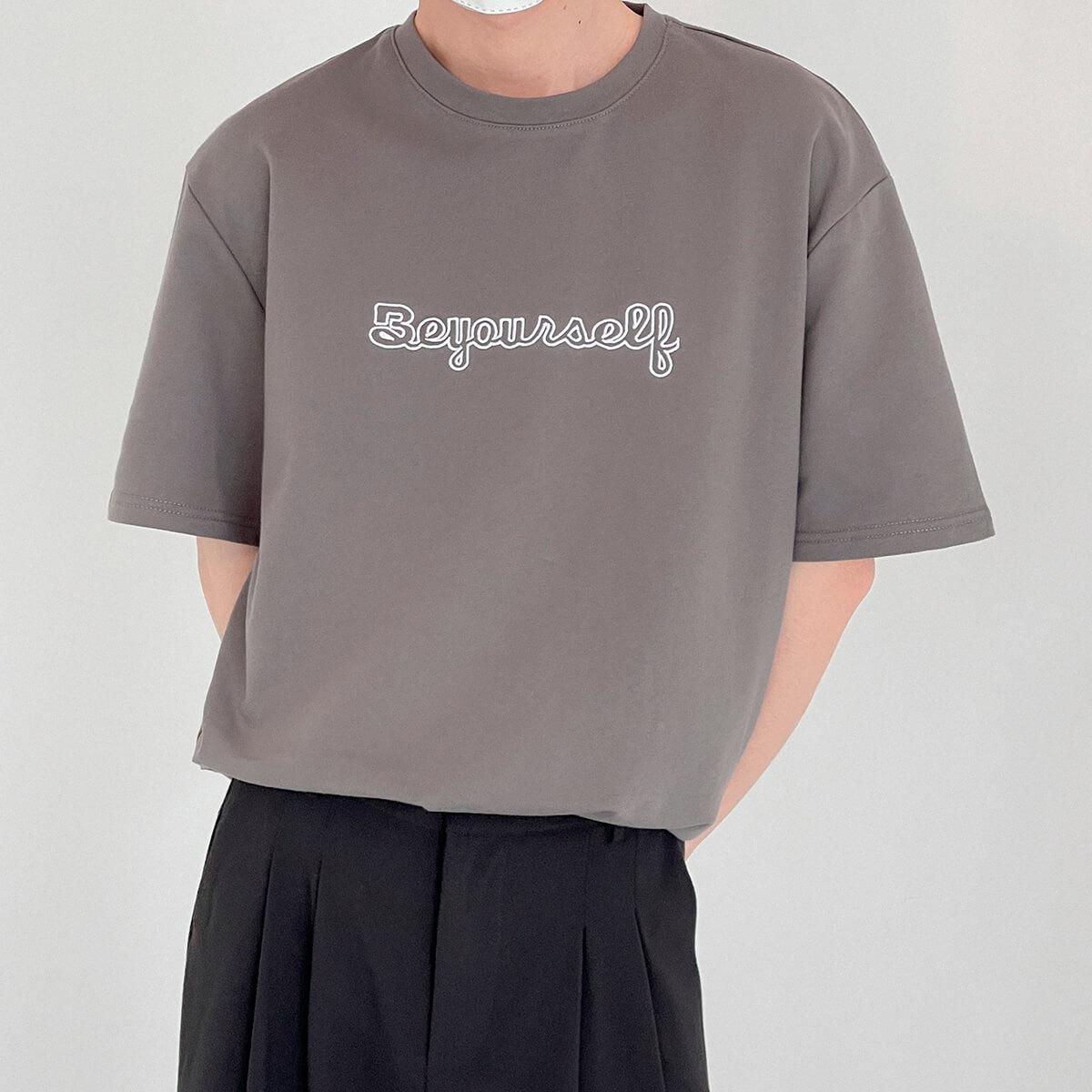 Футболка DAZO Studio T-shirt Embroidery Be Yourself (1)