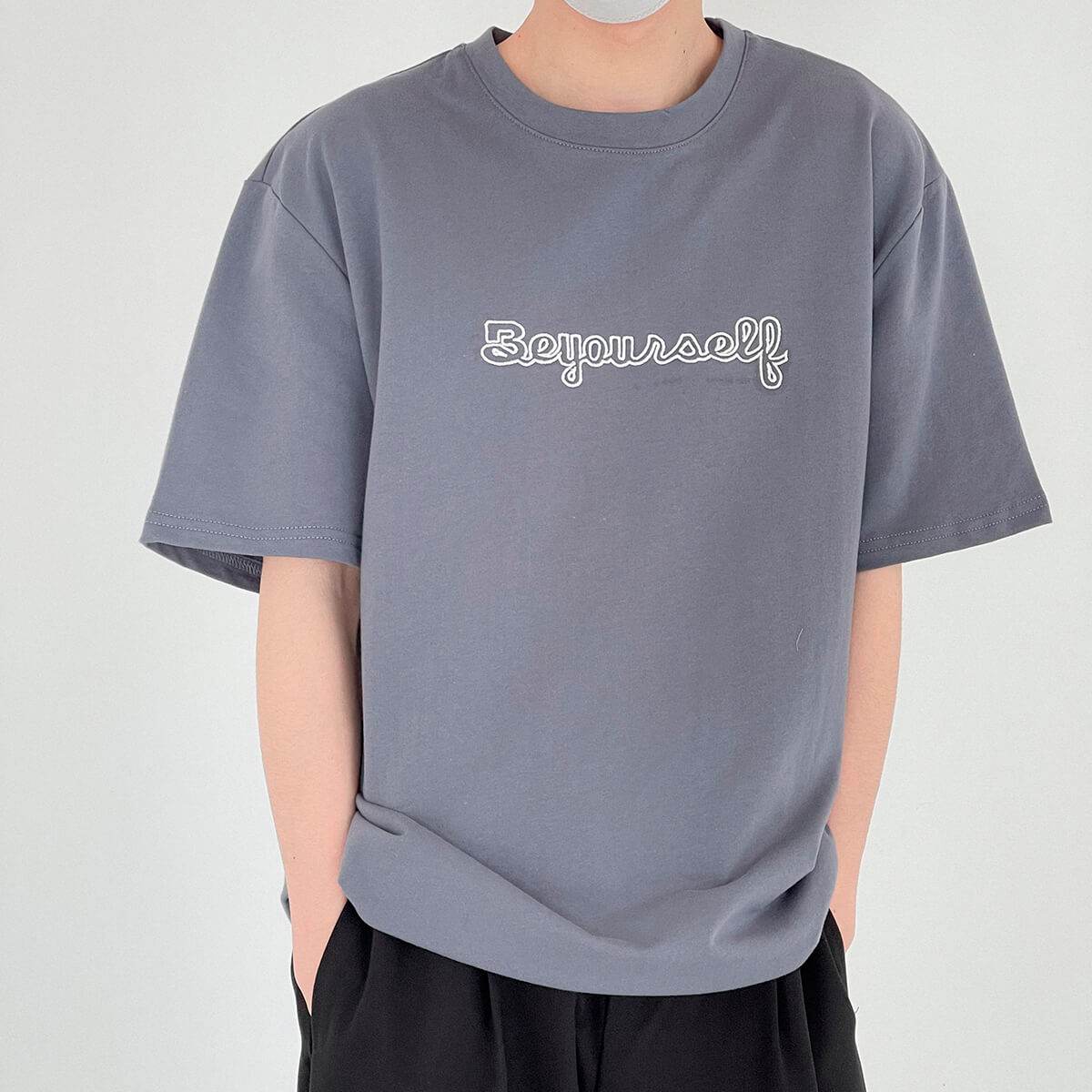Футболка DAZO Studio T-shirt Embroidery Be Yourself (6)
