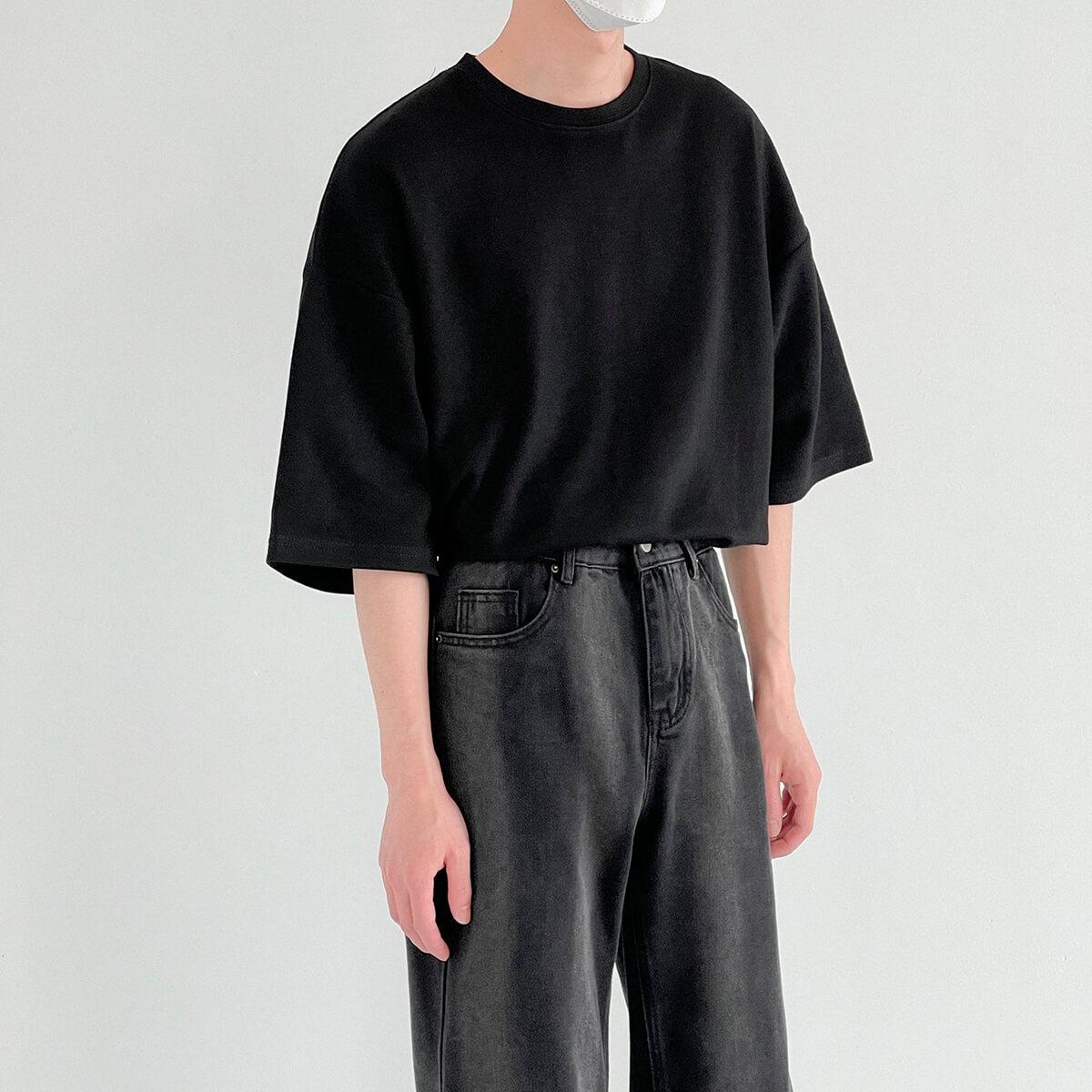 Футболка DAZO Studio Vertical Texture Oversize T-shirt (8)