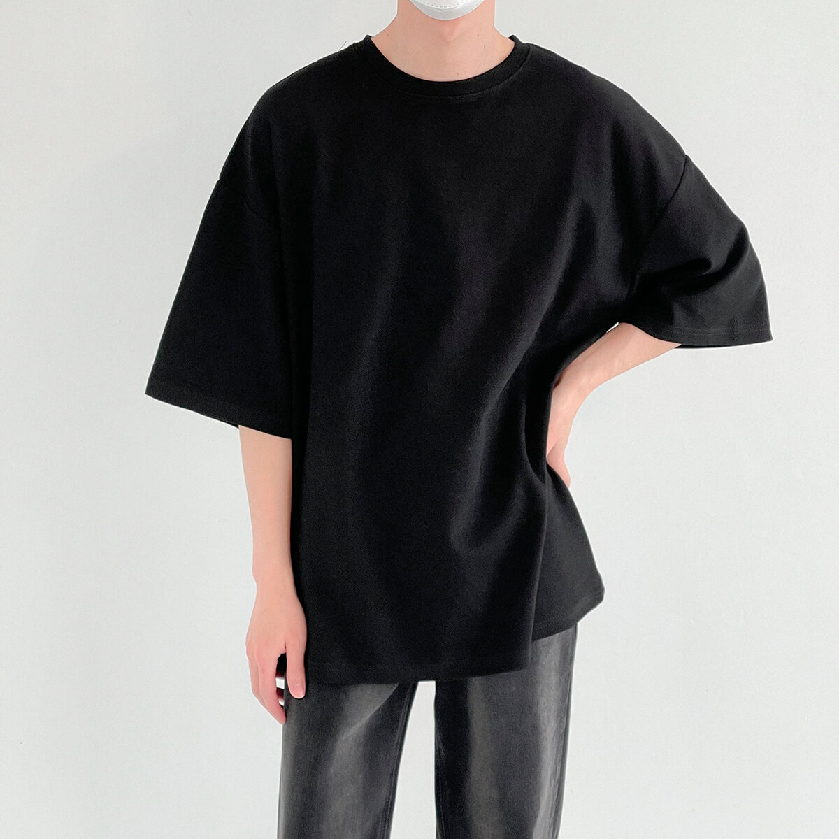 Футболка DAZO Studio Vertical Texture Oversize T-shirt (9)