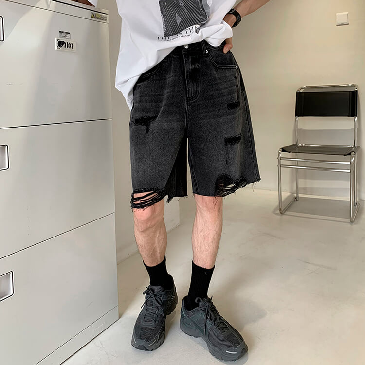 Шорты Attitude Studio Denim Shorts Extra Ripped Design (1)
