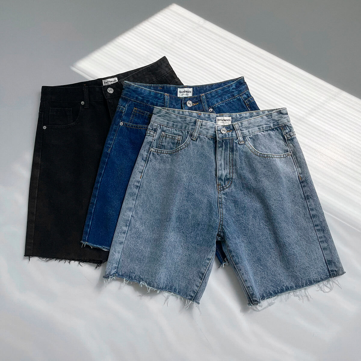 Шорты DAZO Studio Denim Shorts Raw Material (1)