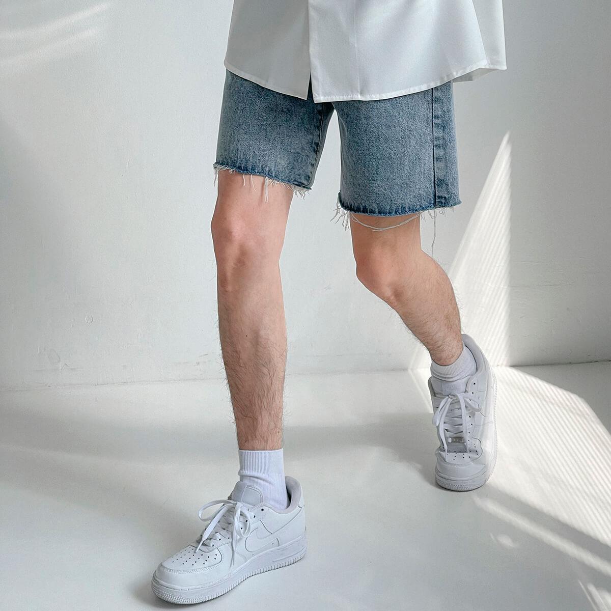 Шорты DAZO Studio Denim Shorts Raw Material (10)