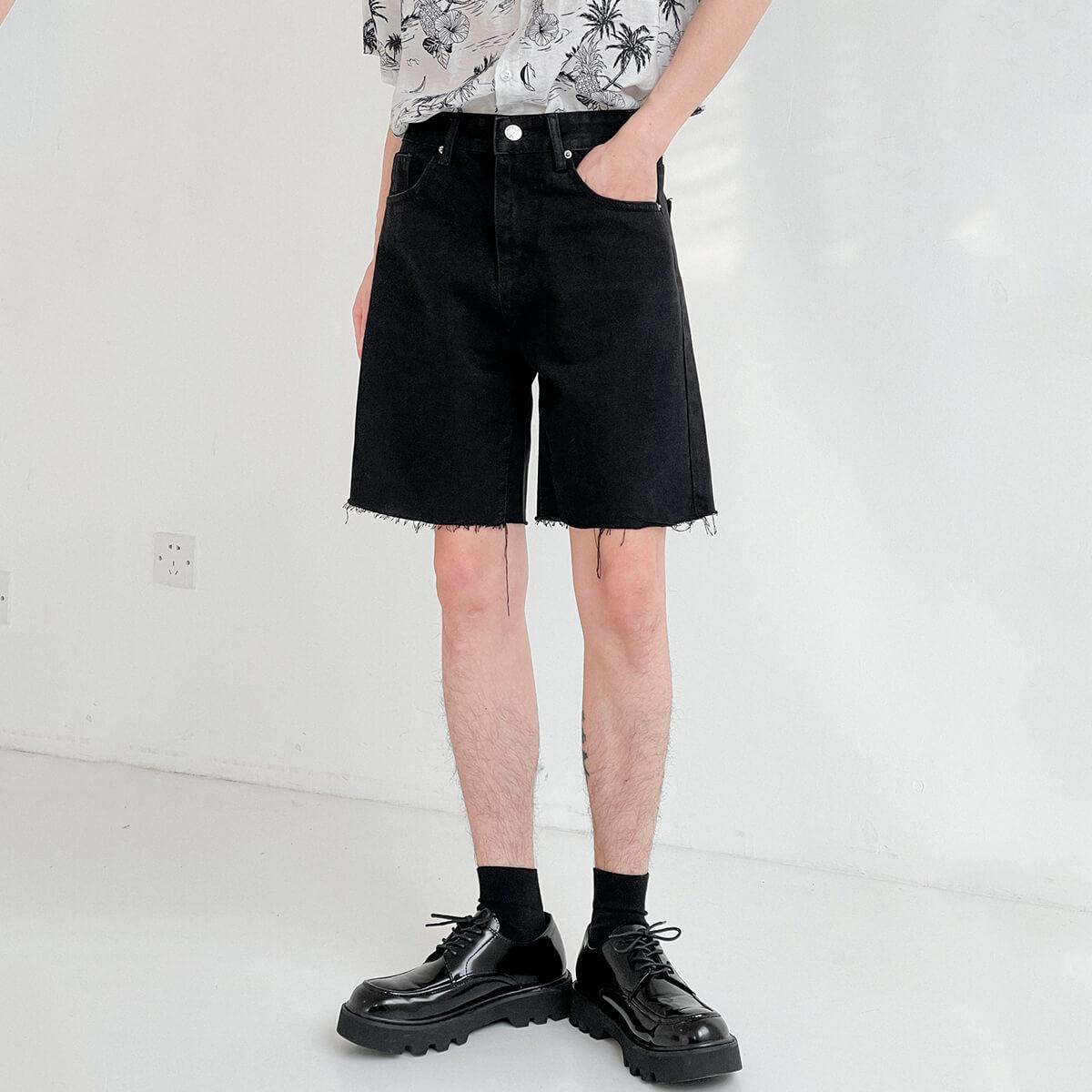 Шорты DAZO Studio Denim Shorts Raw Material (12)