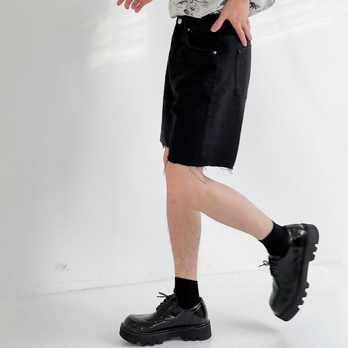 Шорты DAZO Studio Denim Shorts Raw Material (13)