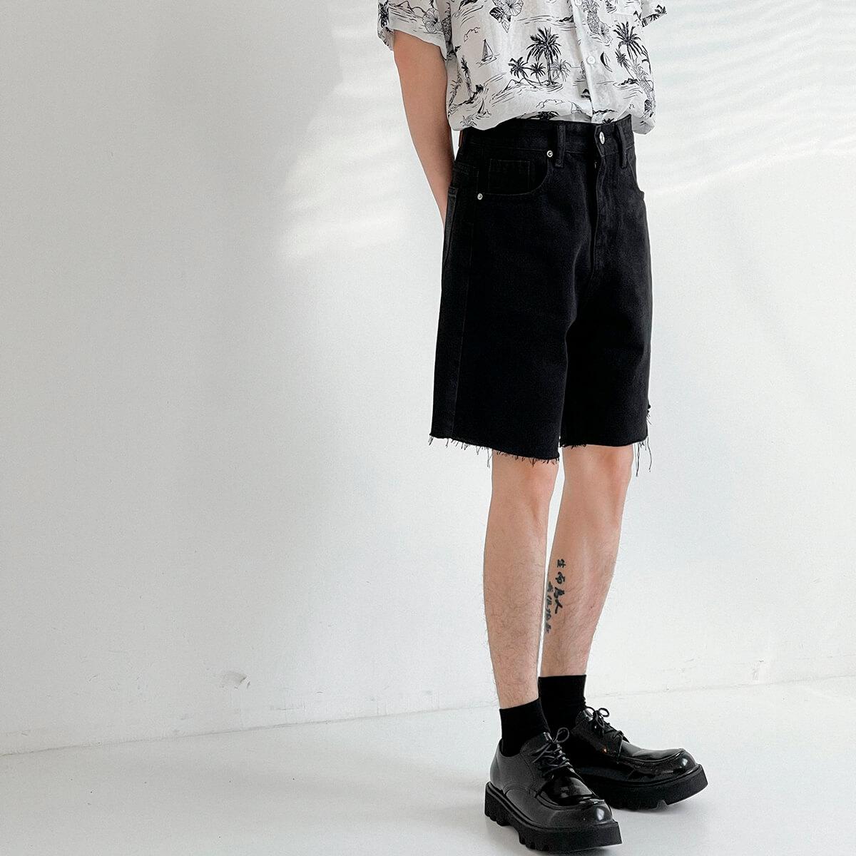 Шорты DAZO Studio Denim Shorts Raw Material (14)