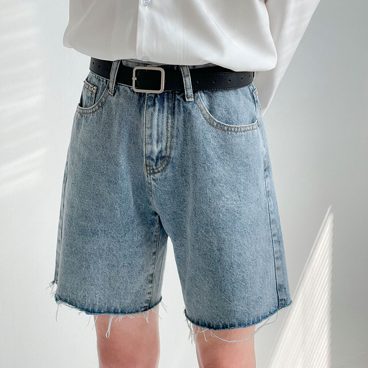 Шорты DAZO Studio Denim Shorts Raw Material (7)