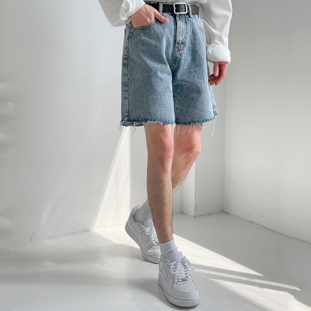 Шорты DAZO Studio Denim Shorts Raw Material (8)
