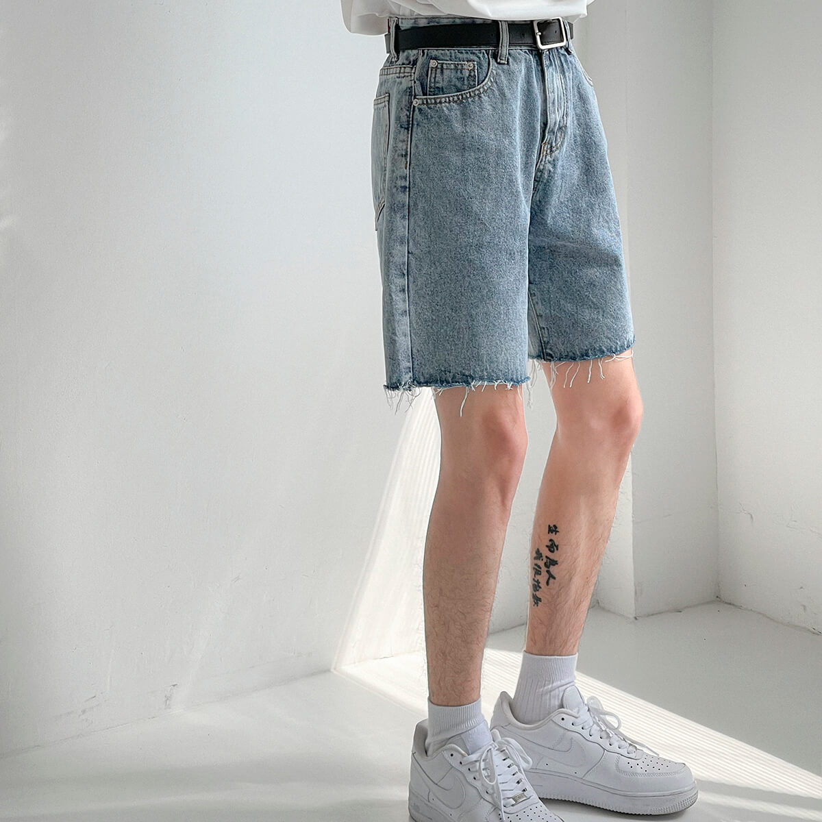 Шорты DAZO Studio Denim Shorts Raw Material (9)