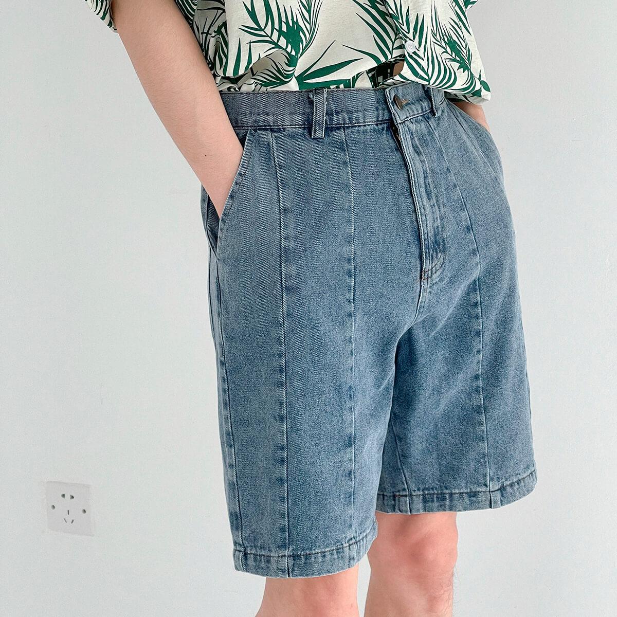 Шорты DAZO Studio Denim Stitched Shorts (1)