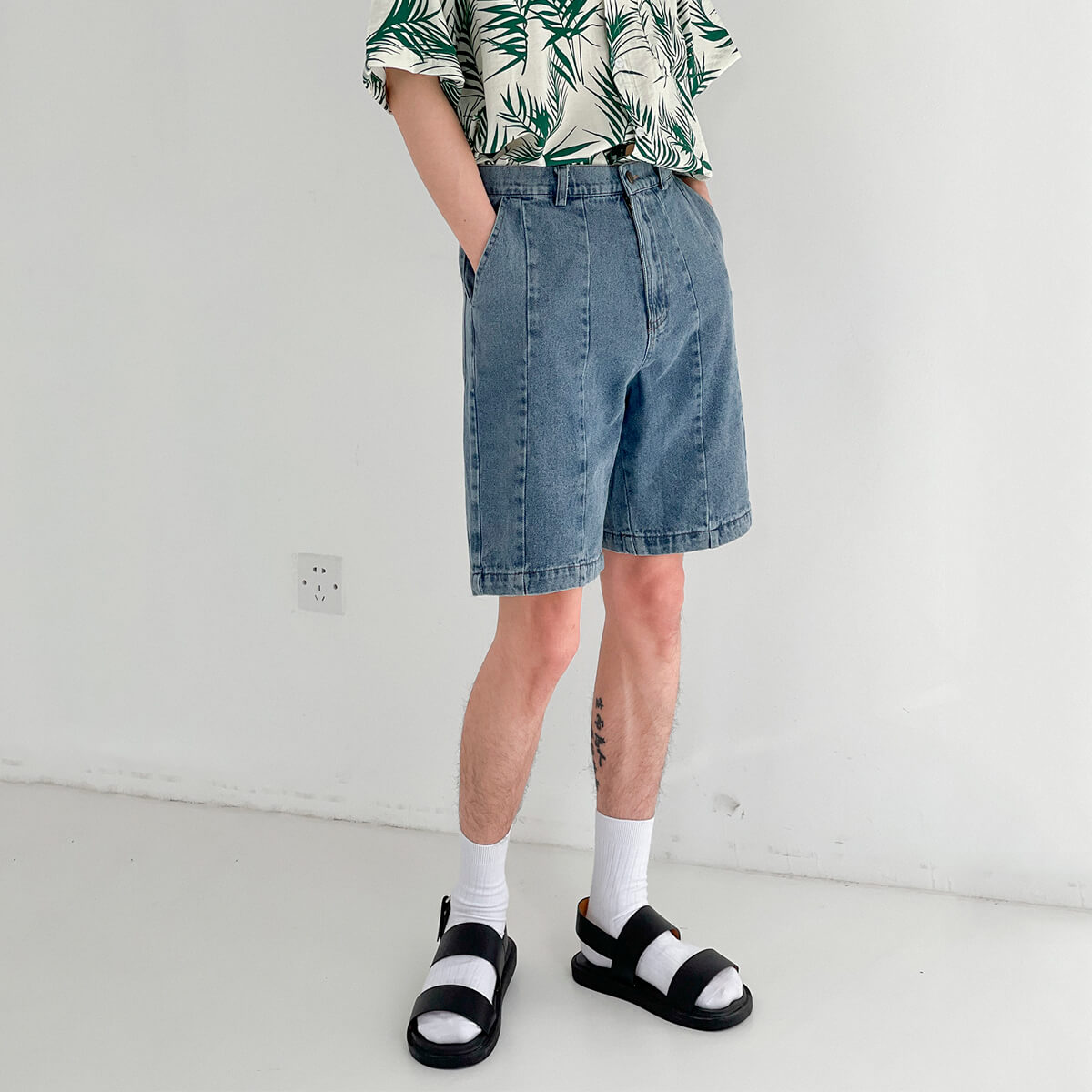 Шорты DAZO Studio Denim Stitched Shorts (4)