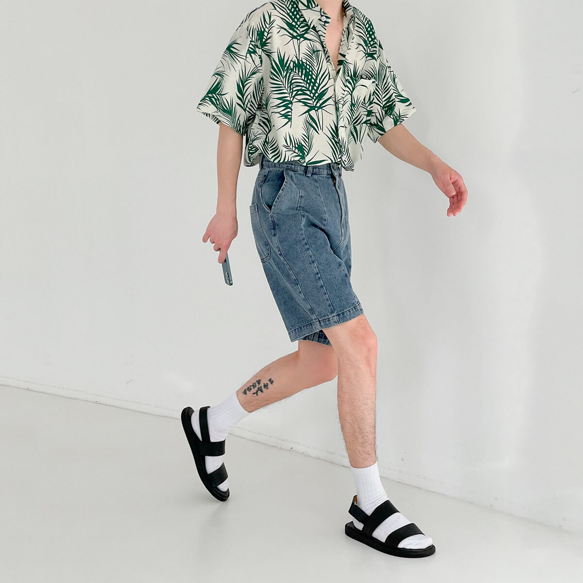 Шорты DAZO Studio Denim Stitched Shorts (5)