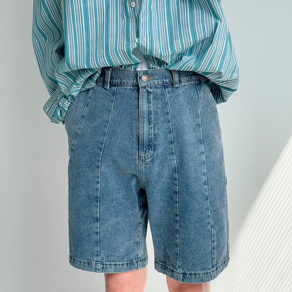 Шорты DAZO Studio Denim Stitched Shorts (6)