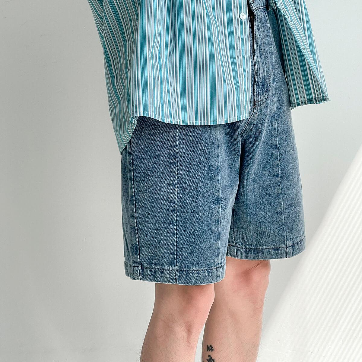 Шорты DAZO Studio Denim Stitched Shorts (7)
