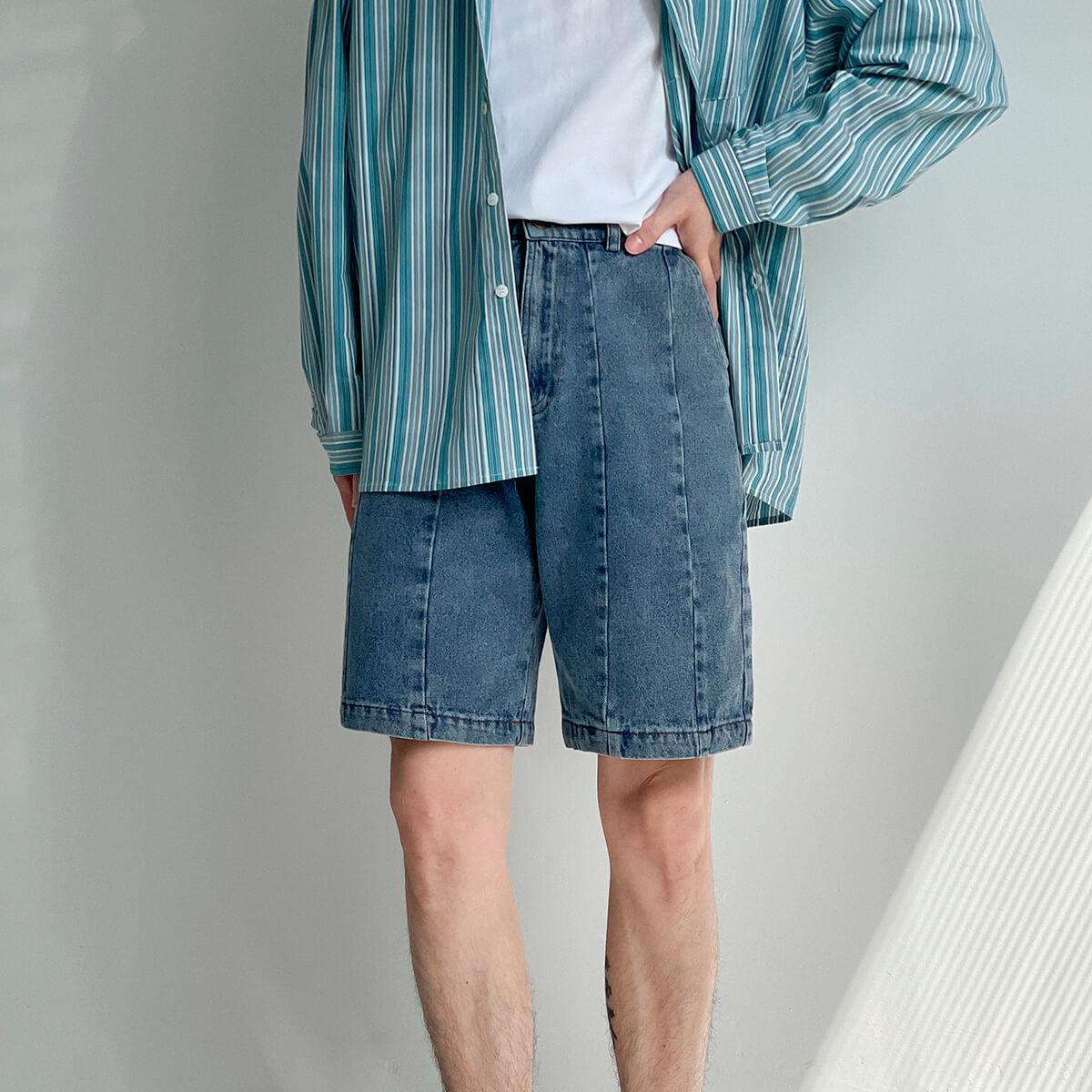 Шорты DAZO Studio Denim Stitched Shorts (8)