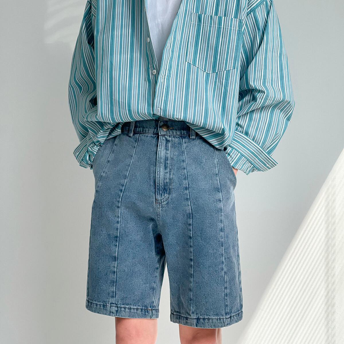 Шорты DAZO Studio Denim Stitched Shorts (9)