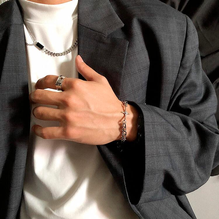 Браслет SAZ Studio Combination Bracelet With Plate (3)