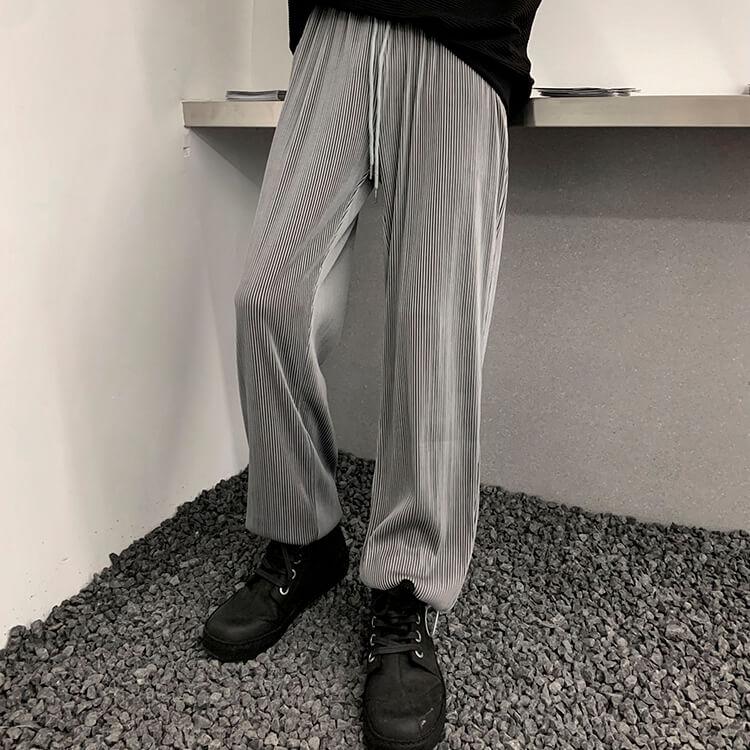 Брюки Attitude Studio Pants Vertical Striped Drawstring Bottom (1)