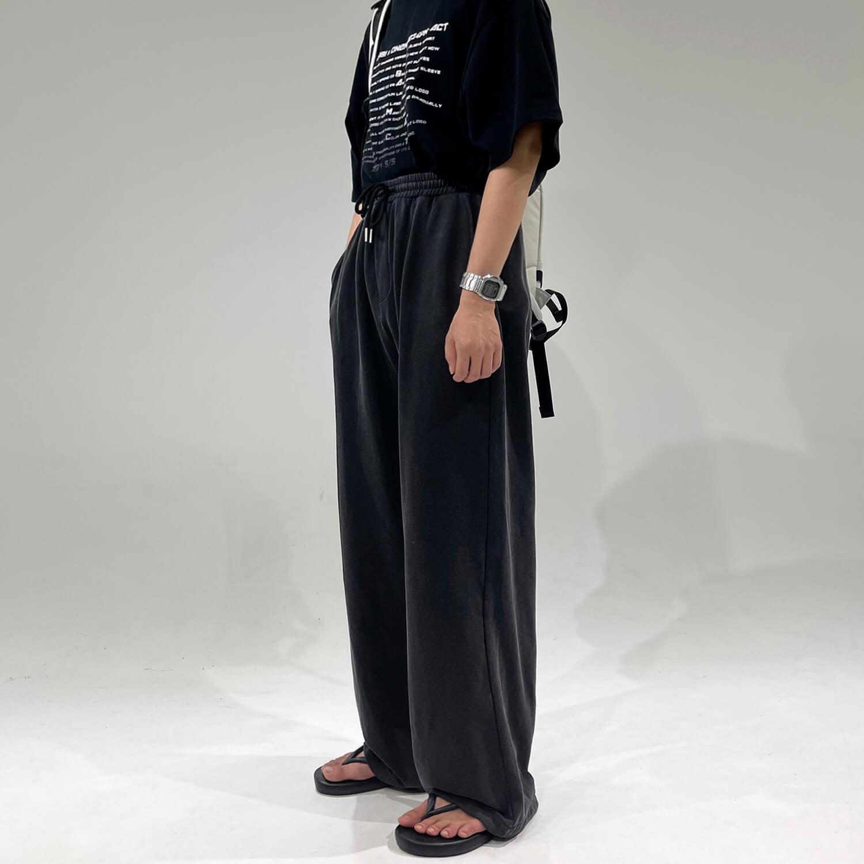 Брюки GB Studio Long Loose Pants Elastic Waist (2)