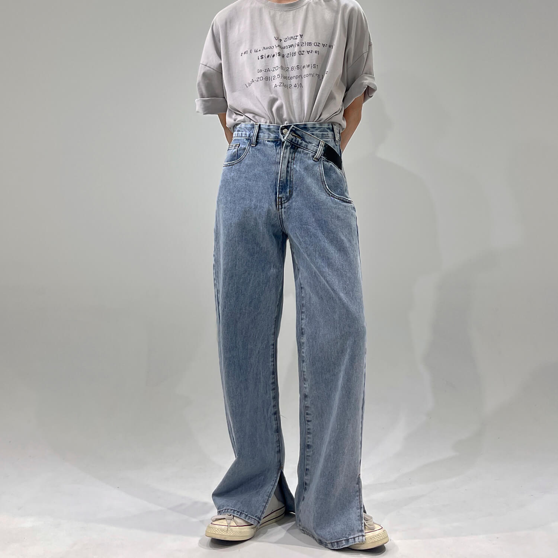 Джинсы GB Studio Jeans Flare Split Beveled Waist (1)