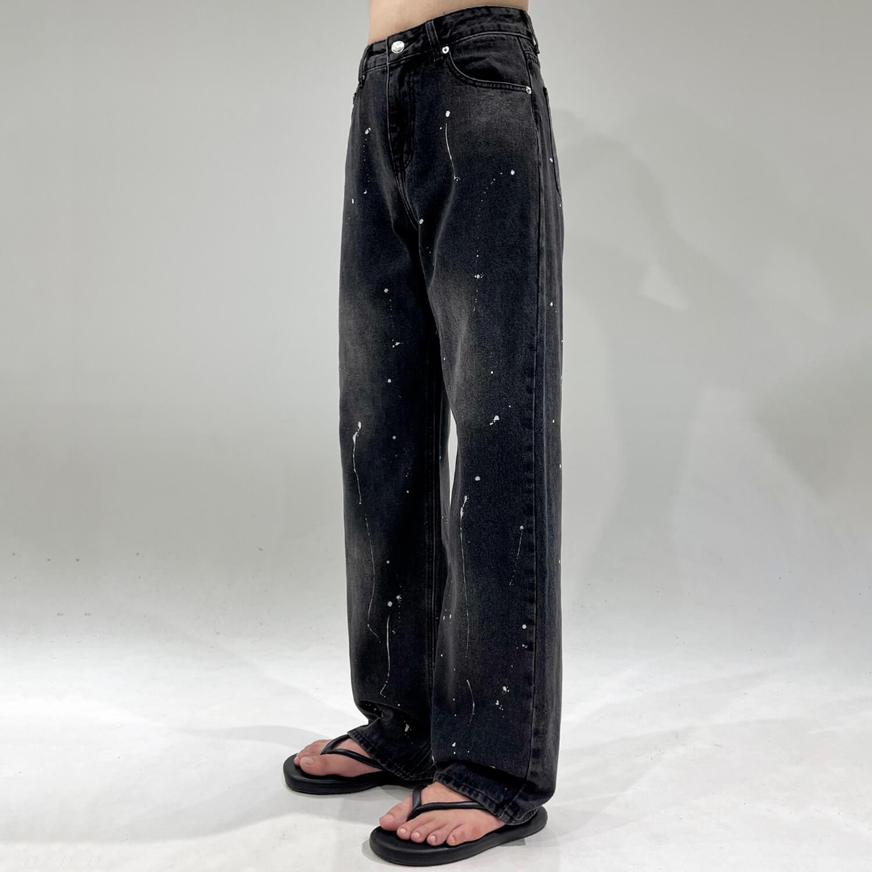 Джинсы GB Studio Paint Splash Straight Jeans (1)