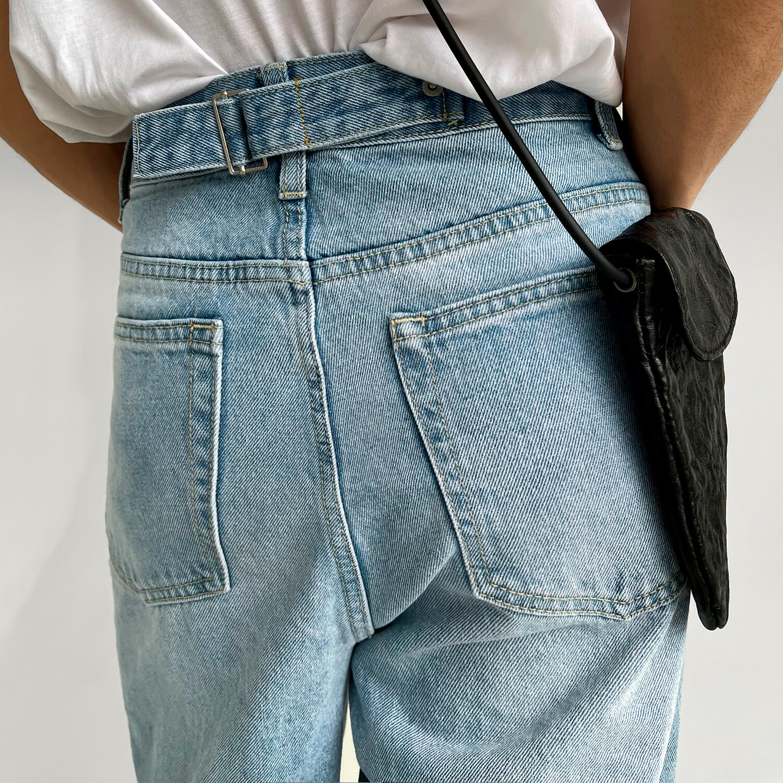Джинсы GB Studio Straight Jeans Back Belt (4)